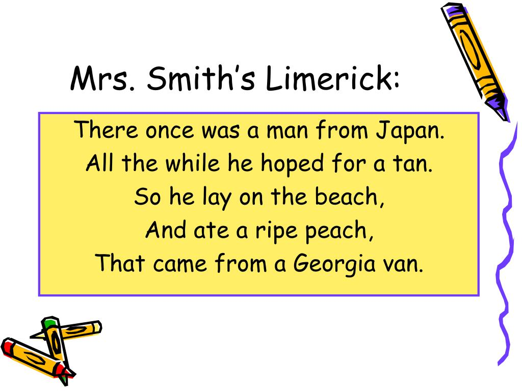 Mrs. Smith's Limerick: