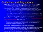 guidelines and regulations