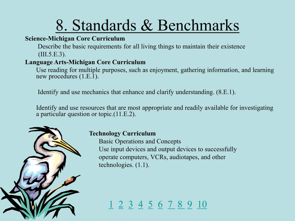 8. Standards & Benchmarks