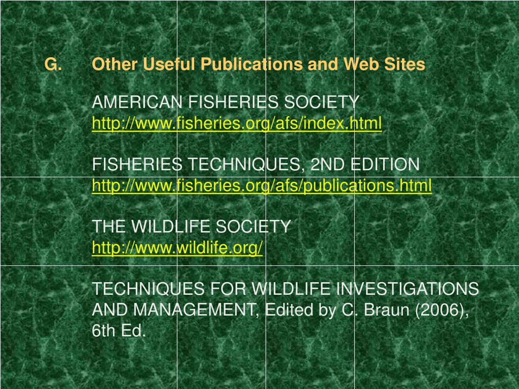 Other Useful Publications and Web Sites
