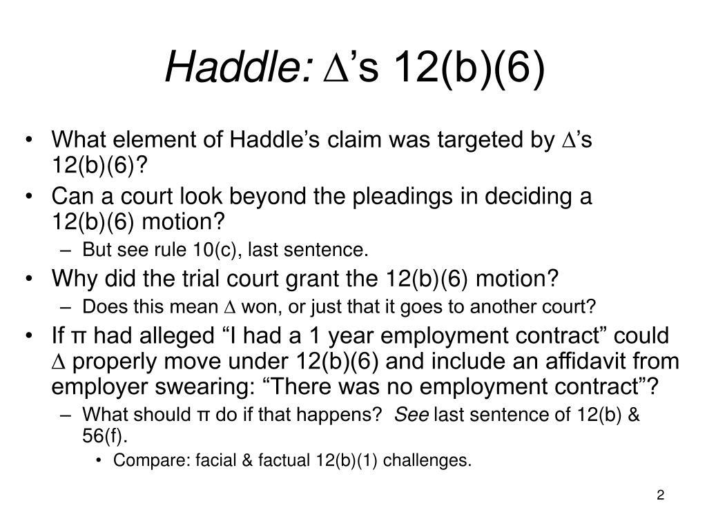 Haddle: