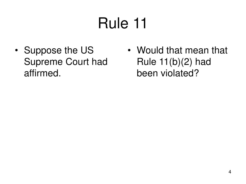 Suppose the US Supreme Court had affirmed.