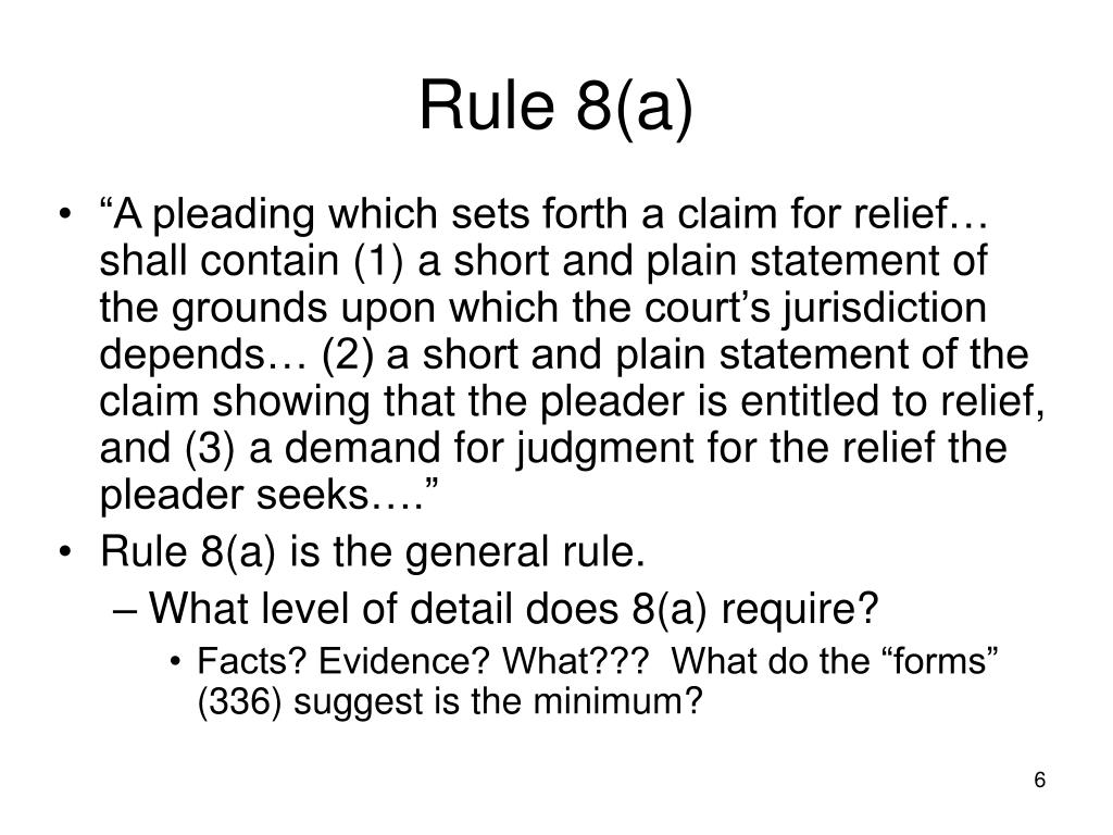 Rule 8(a)
