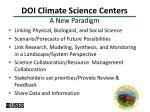 doi climate science centers a new paradigm