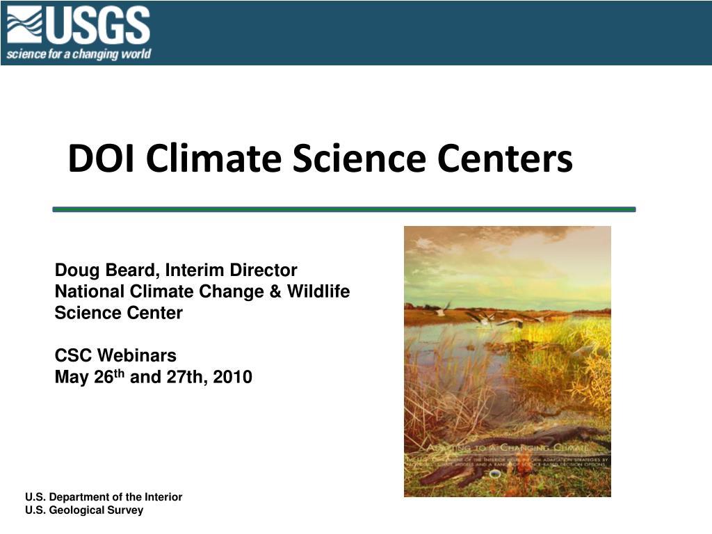 doi climate science centers