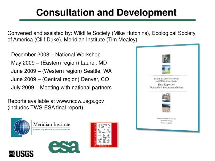 Consultation and Development