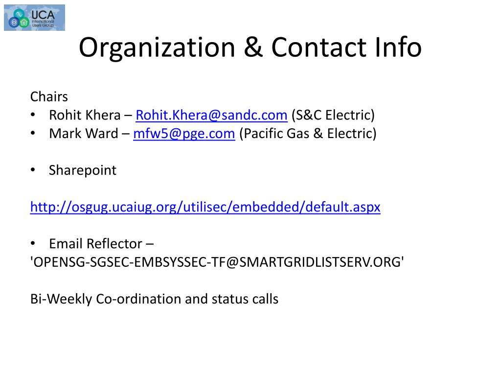 Organization & Contact Info