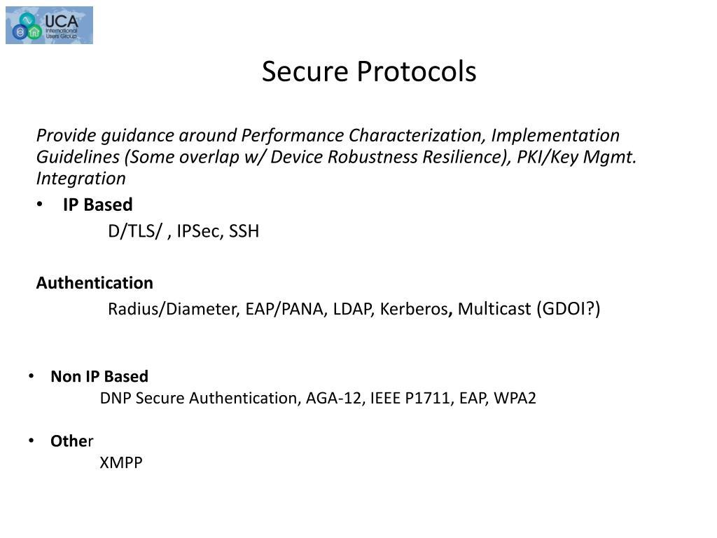 Secure Protocols