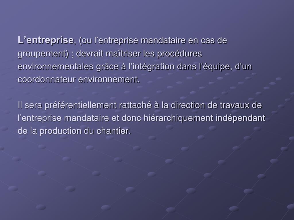 L'entreprise