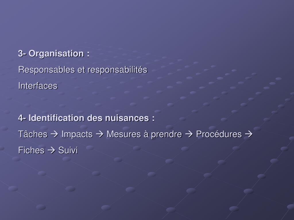 3- Organisation: