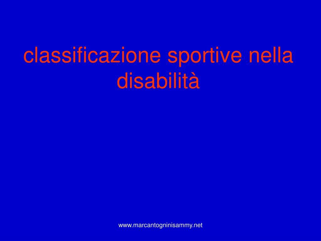 classificazione sportive nella disabilità