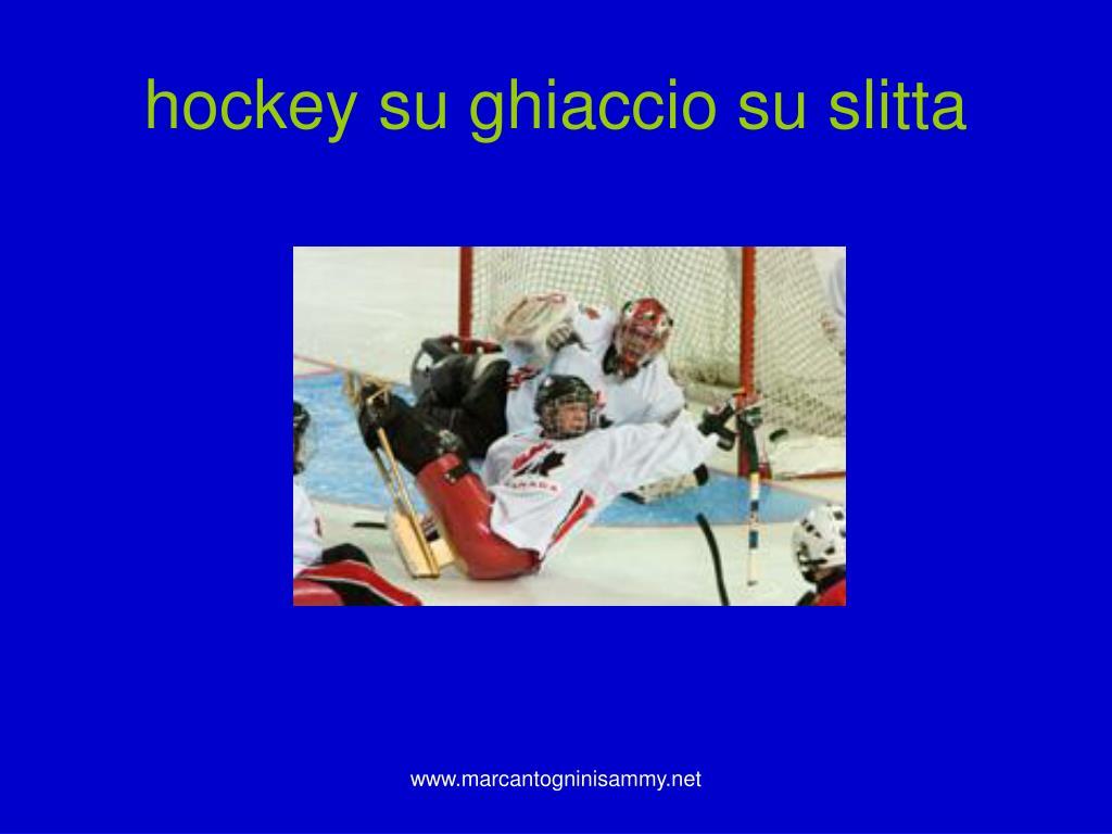 hockey su ghiaccio su slitta