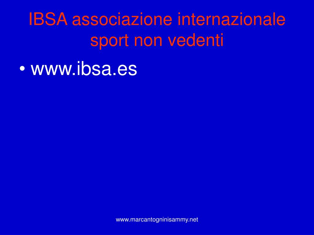 IBSA associazione internazionale sport non vedenti