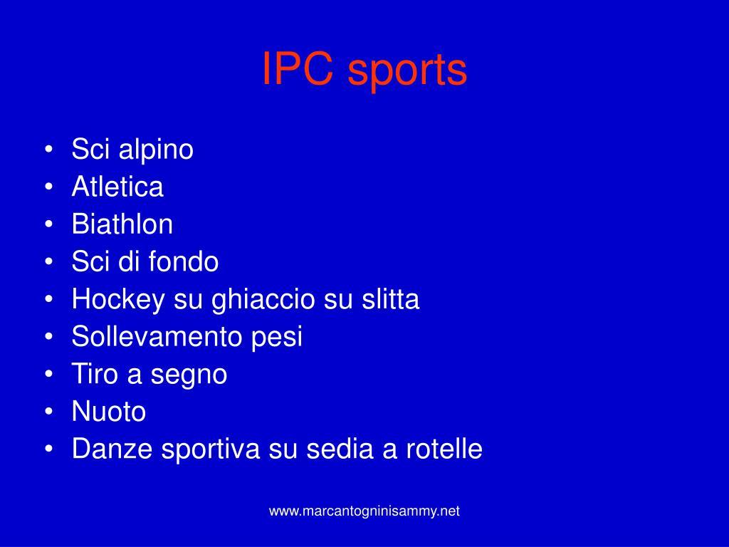 IPC sports
