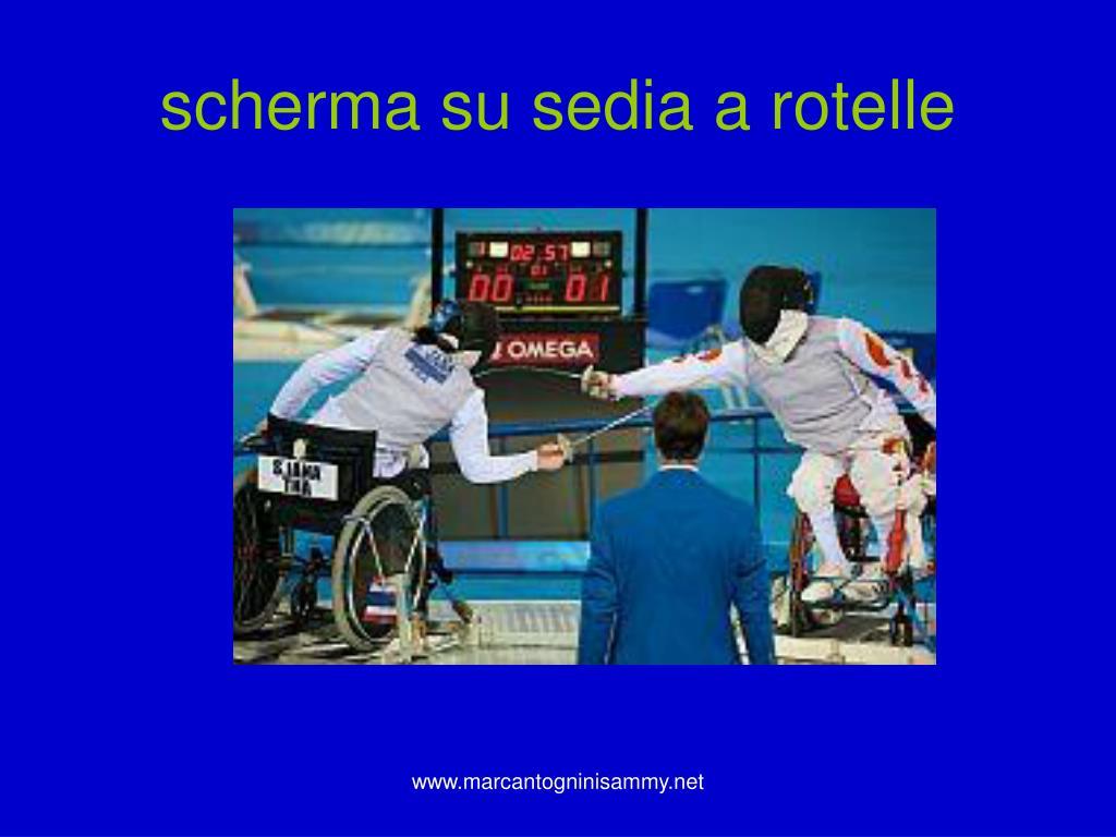 scherma su sedia a rotelle