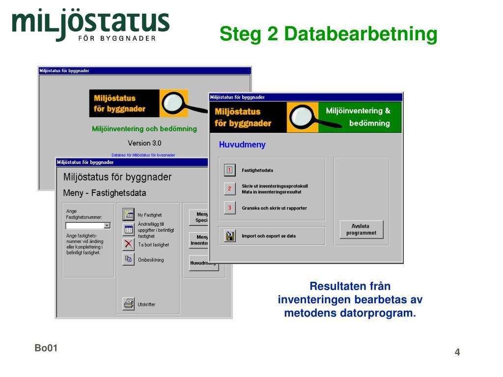Steg 2 Databearbetning