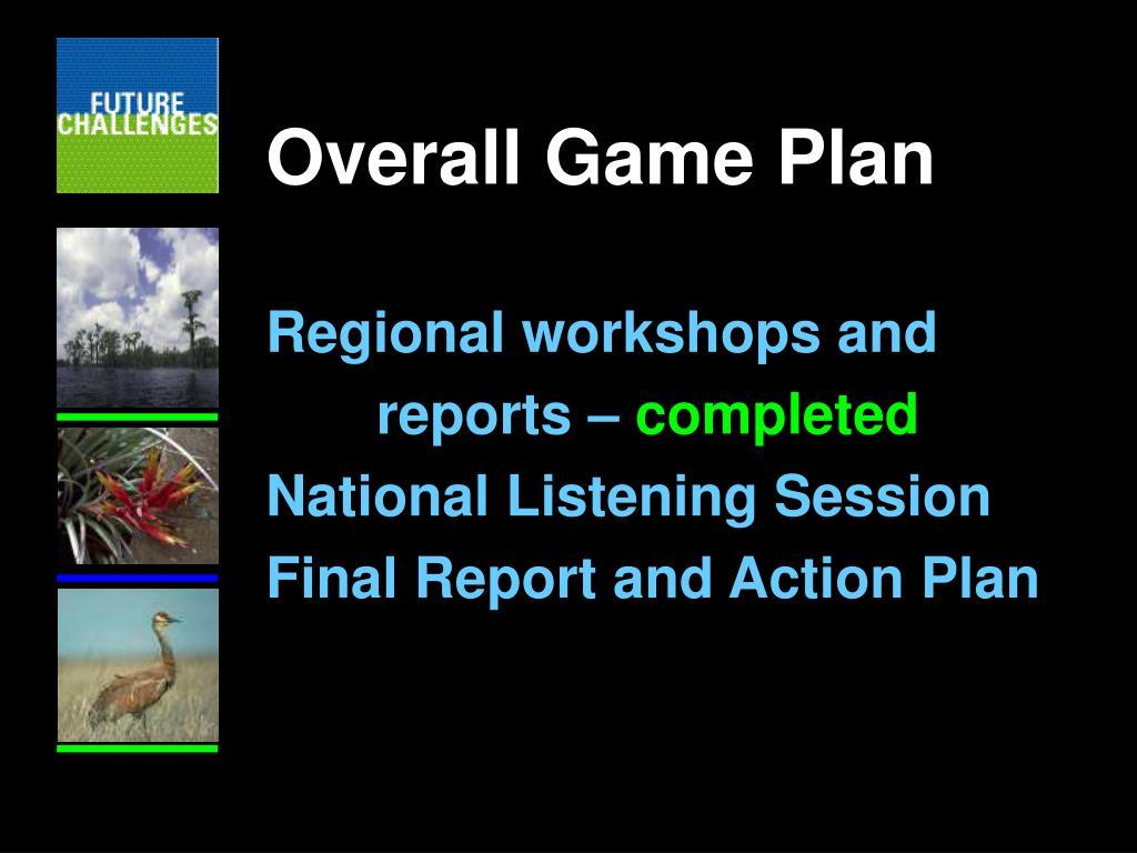 Overall Game Plan