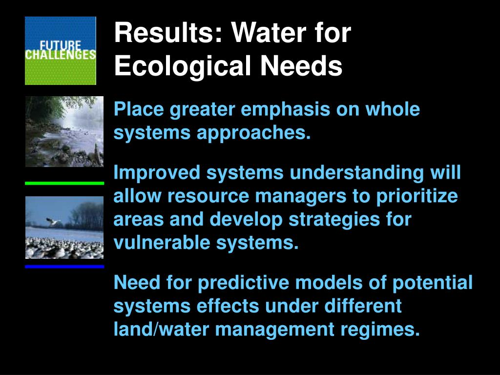 Results: Water for Ecological Needs