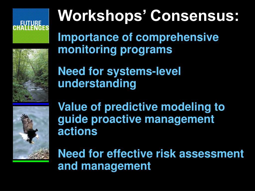 Workshops' Consensus: