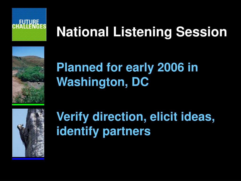 National Listening Session