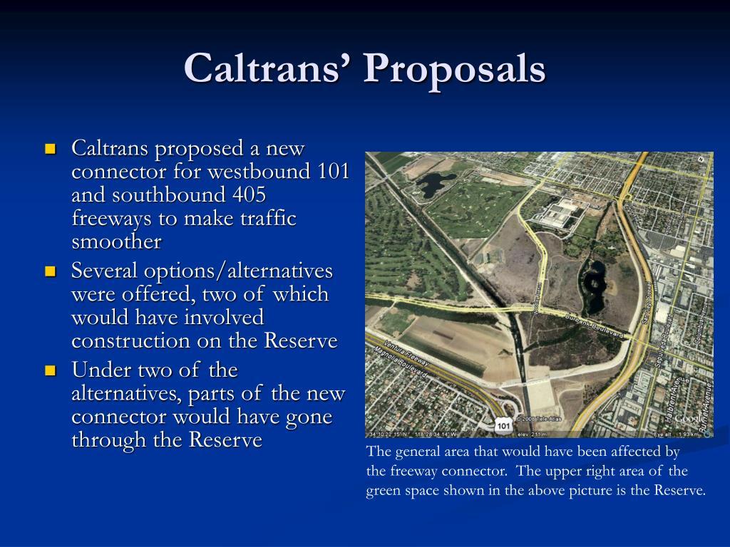 Caltrans' Proposals