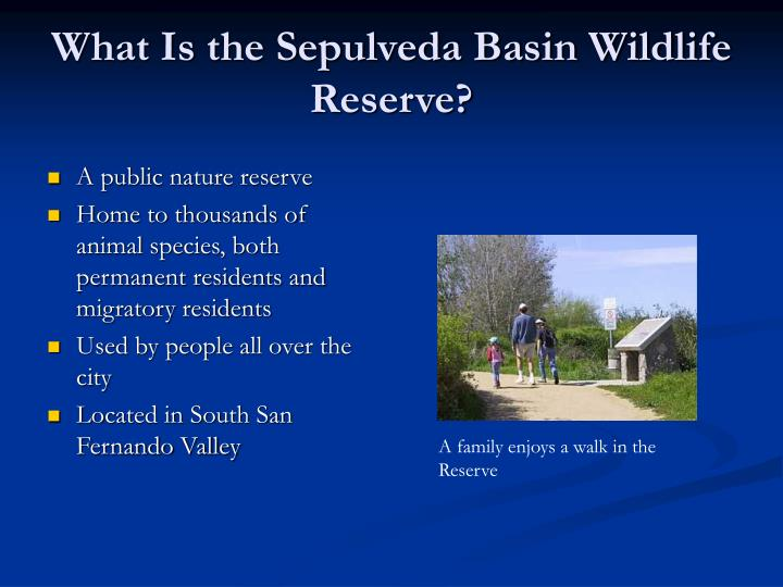 What is the sepulveda basin wildlife reserve