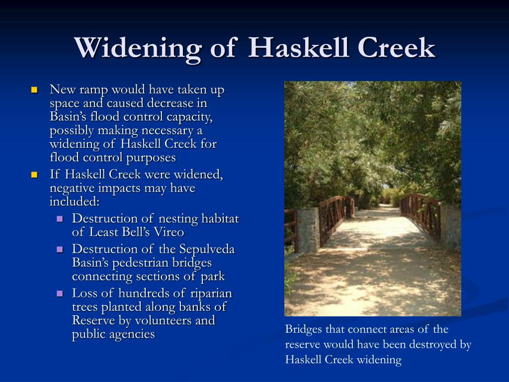 Widening of Haskell Creek