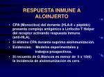 respuesta inmune a aloinjerto