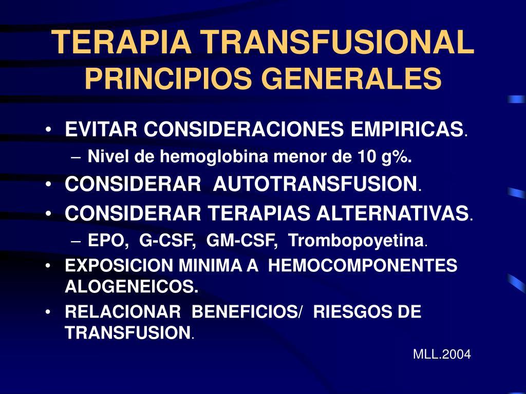 TERAPIA TRANSFUSIONAL