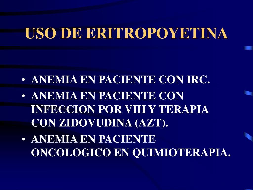 USO DE ERITROPOYETINA