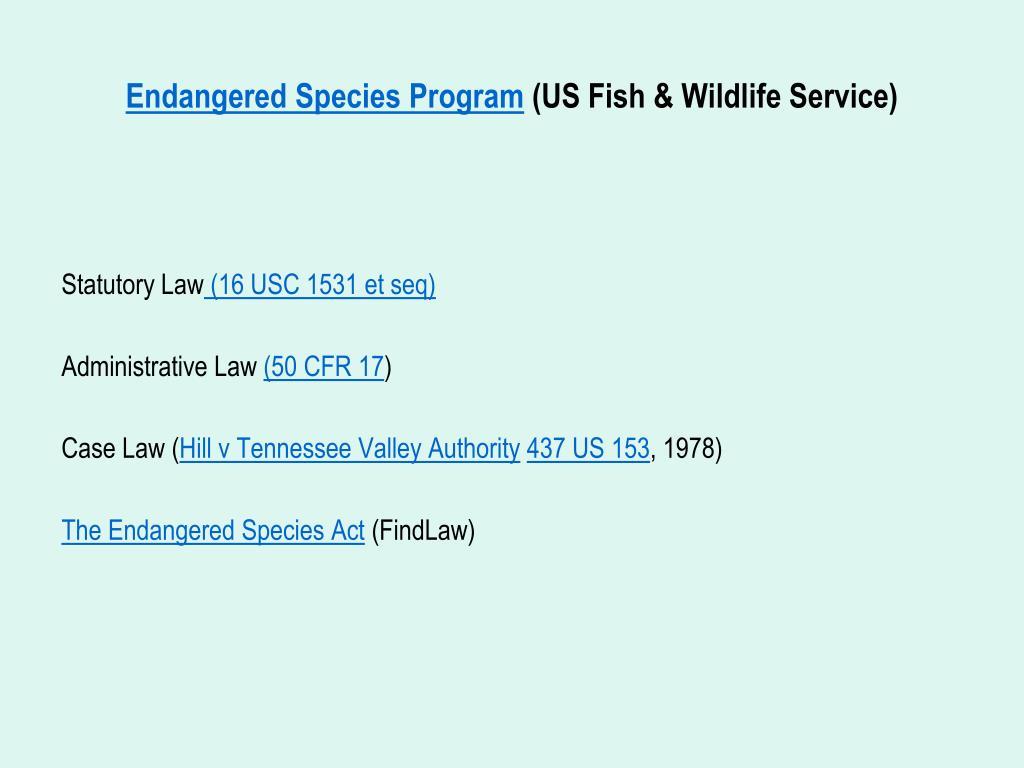 Endangered Species Program