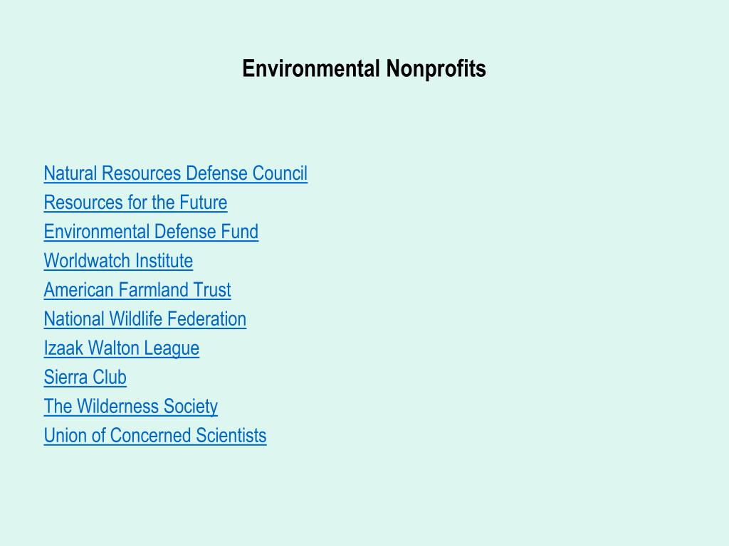 Environmental Nonprofits