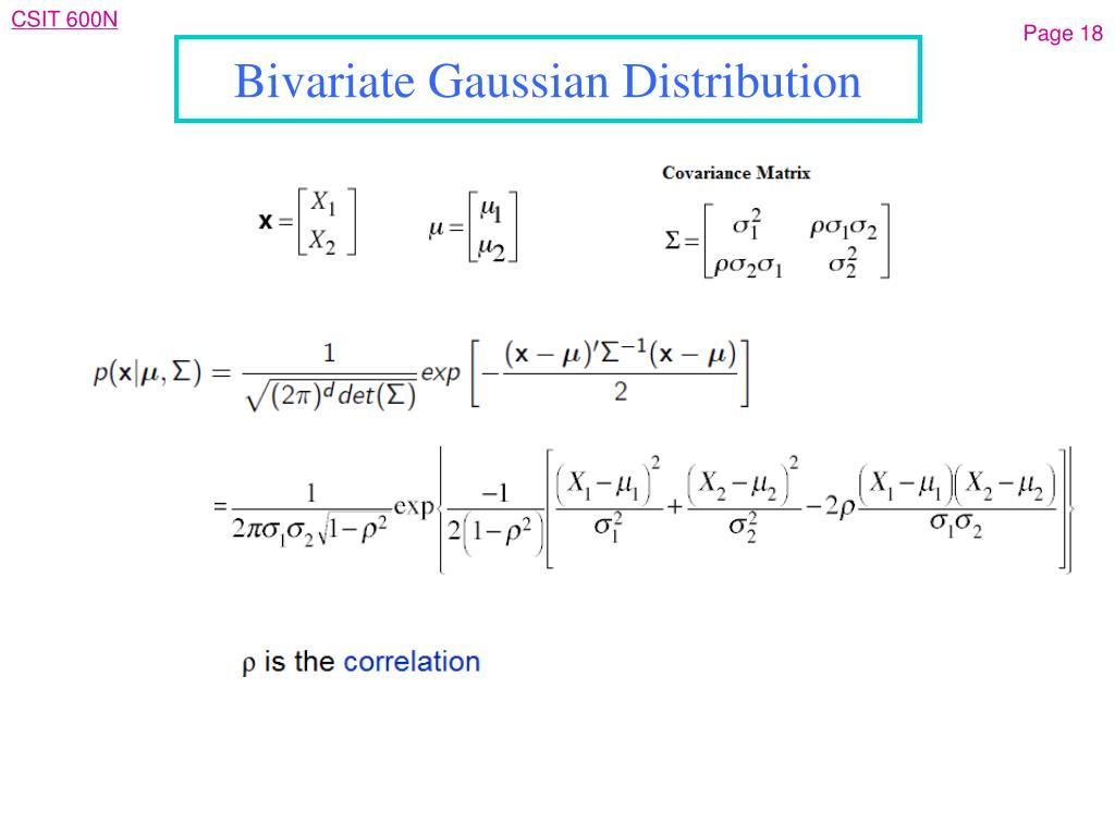 Bivariate Gaussian Distribution