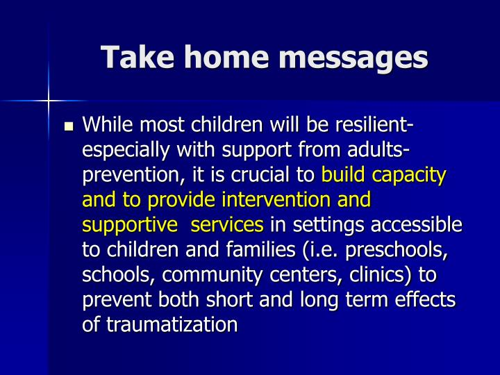 Take home messages3