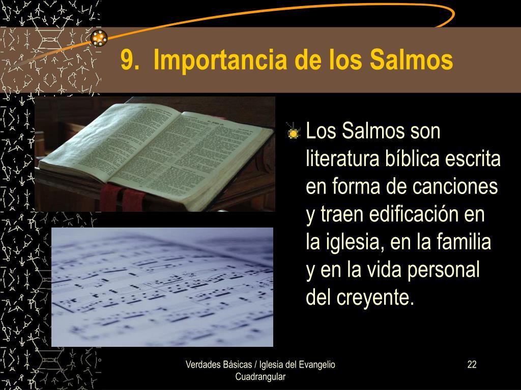 9.  Importancia de los Salmos