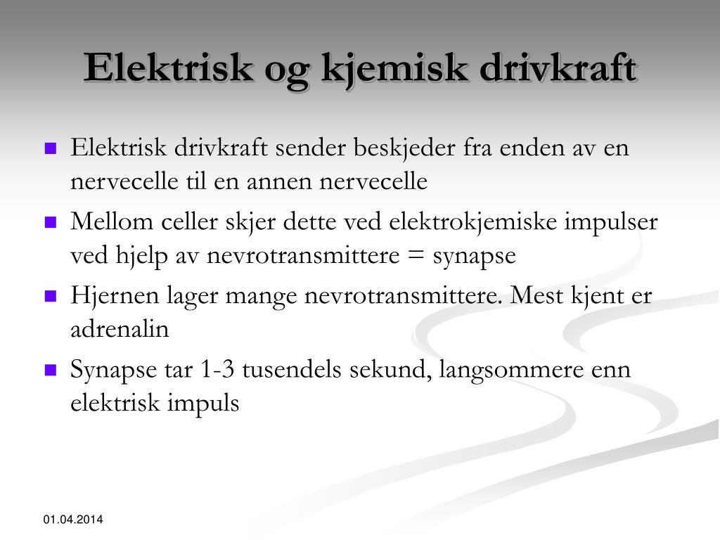 Elektrisk og kjemisk drivkraft