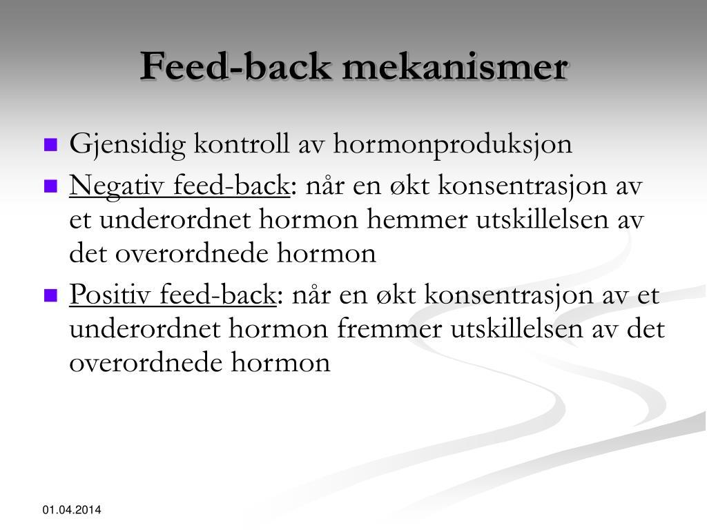 Feed-back mekanismer