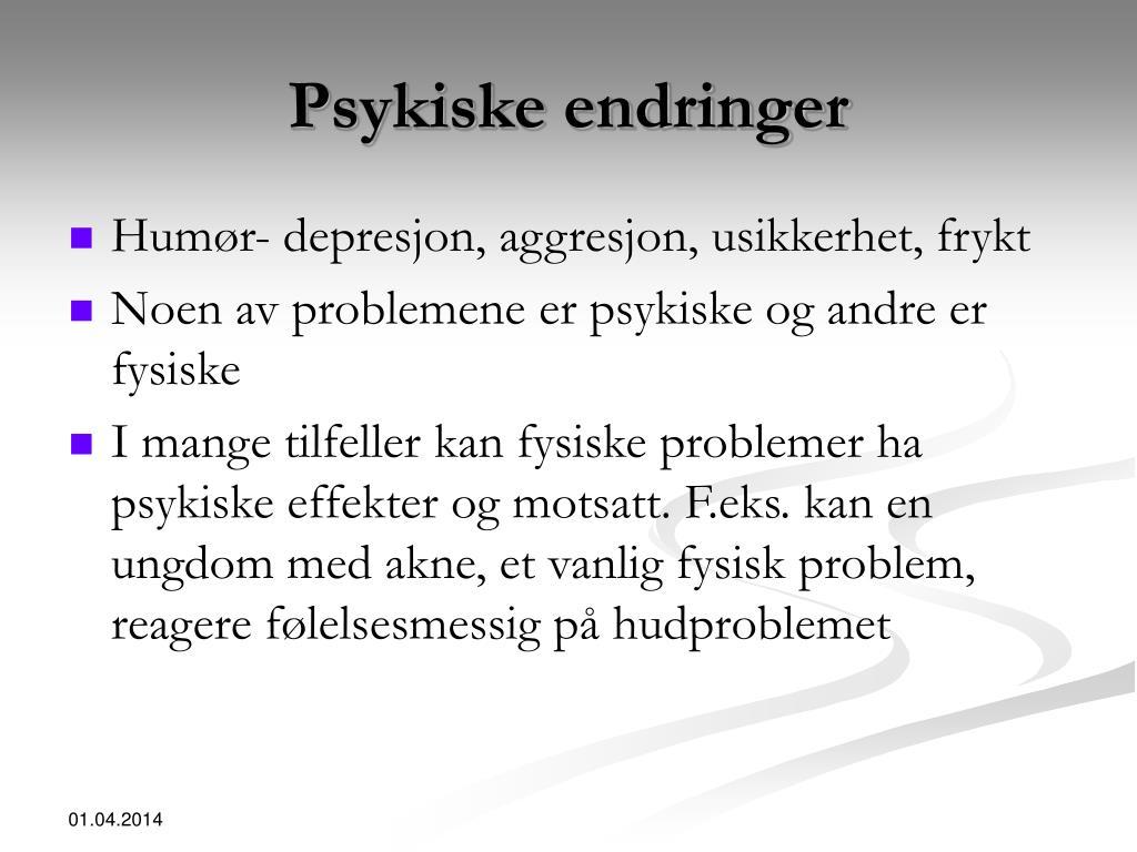 Psykiske endringer