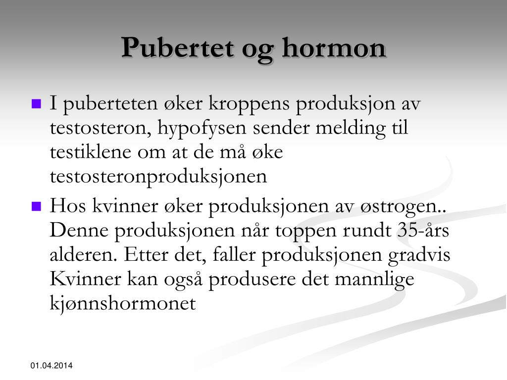 Pubertet og hormon