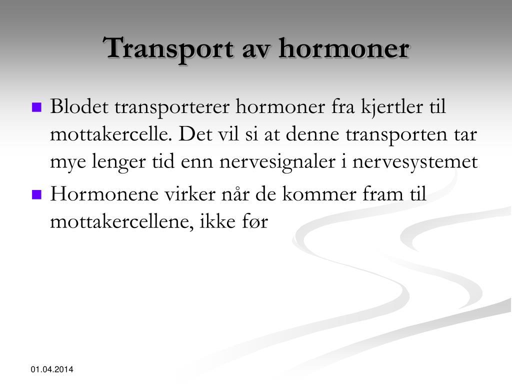 Transport av hormoner