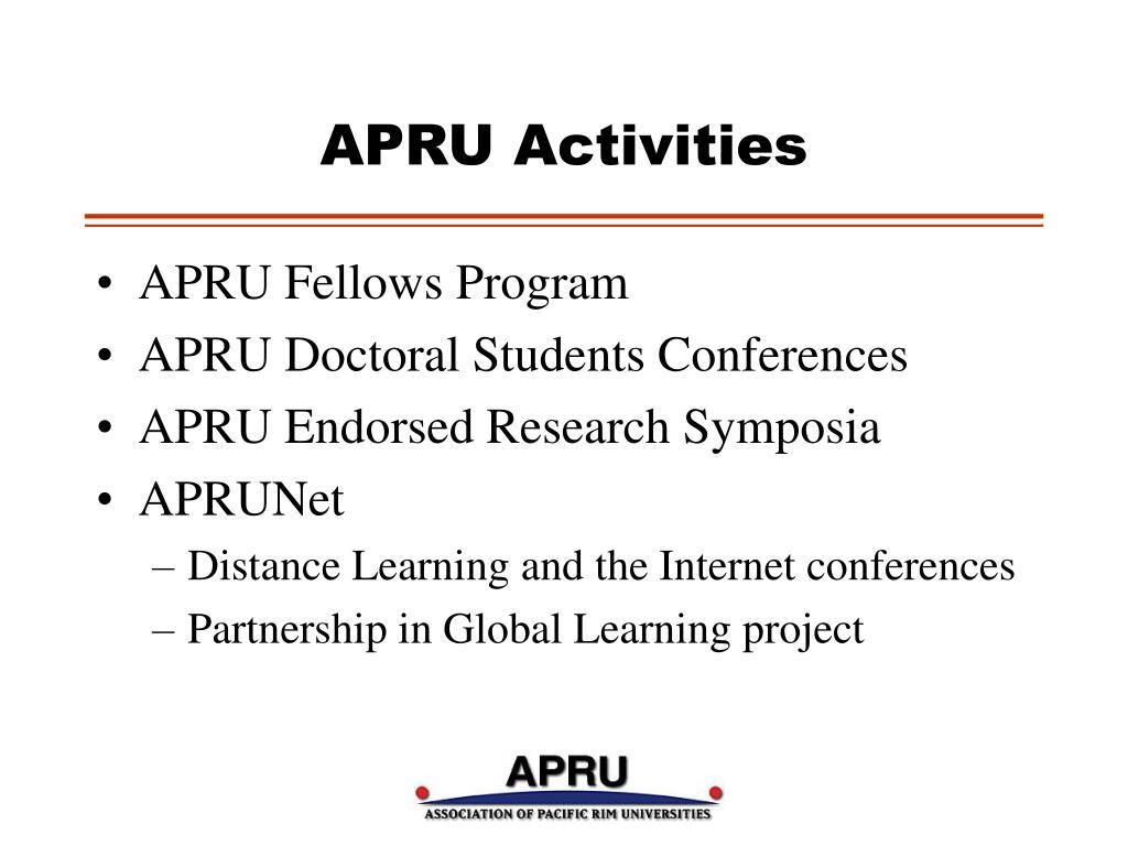 APRU Activities