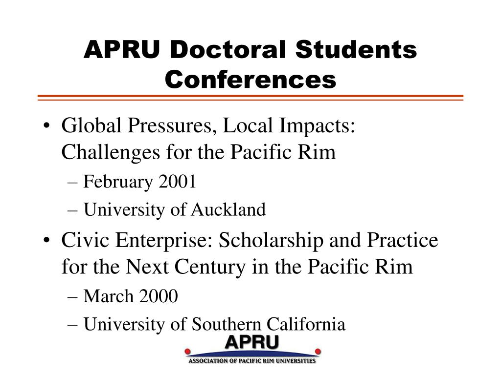 APRU Doctoral Students Conferences