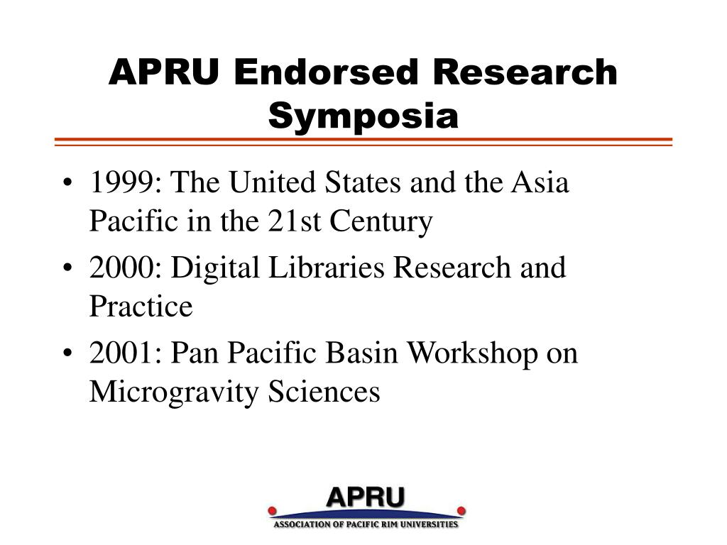 APRU Endorsed Research Symposia