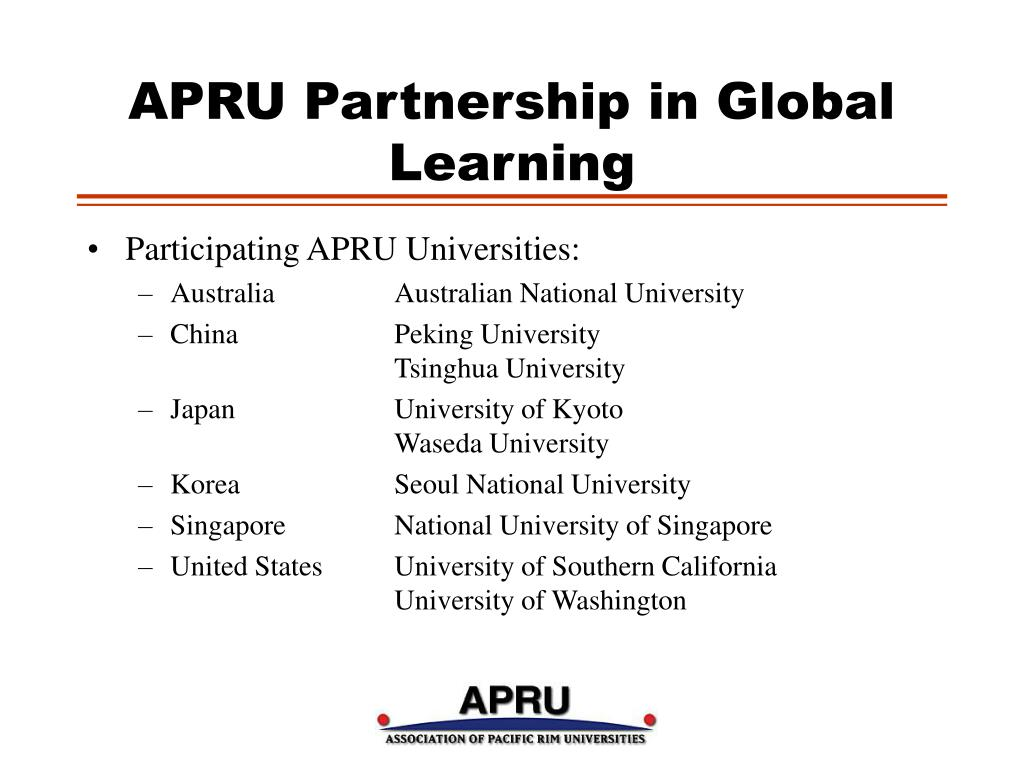 APRU Partnership in Global Learning
