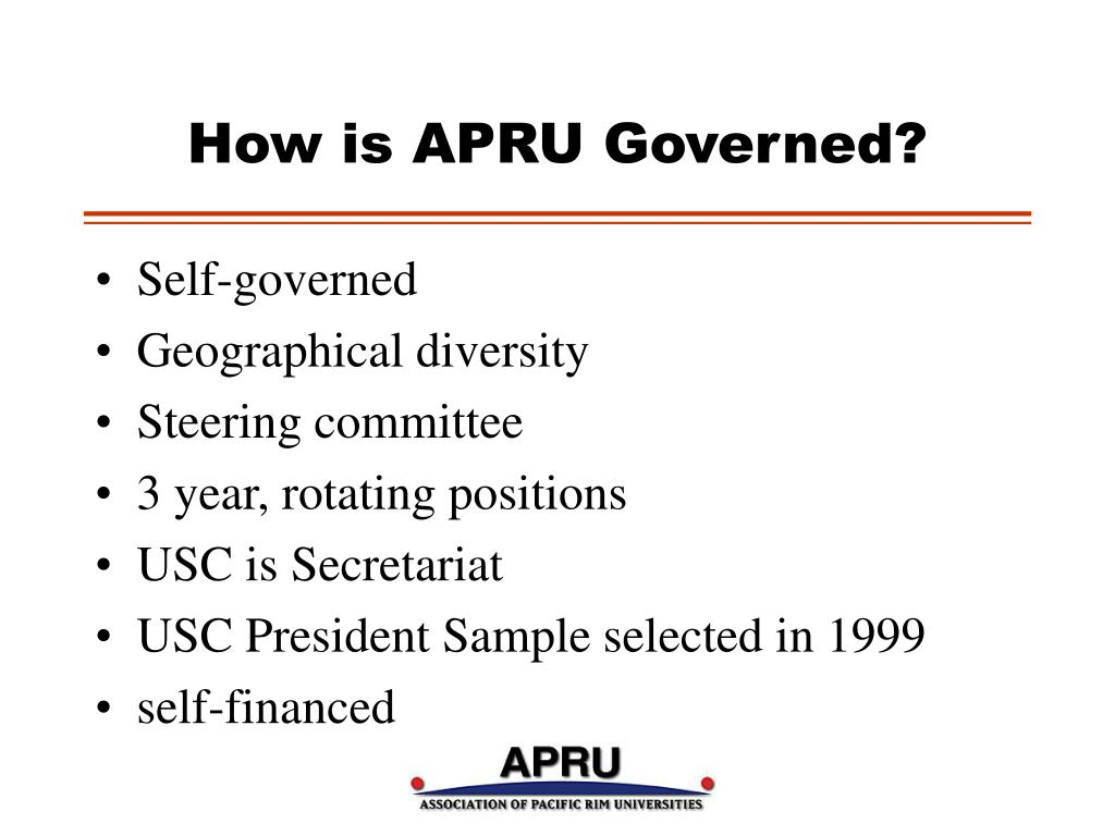 How is APRU Governed?