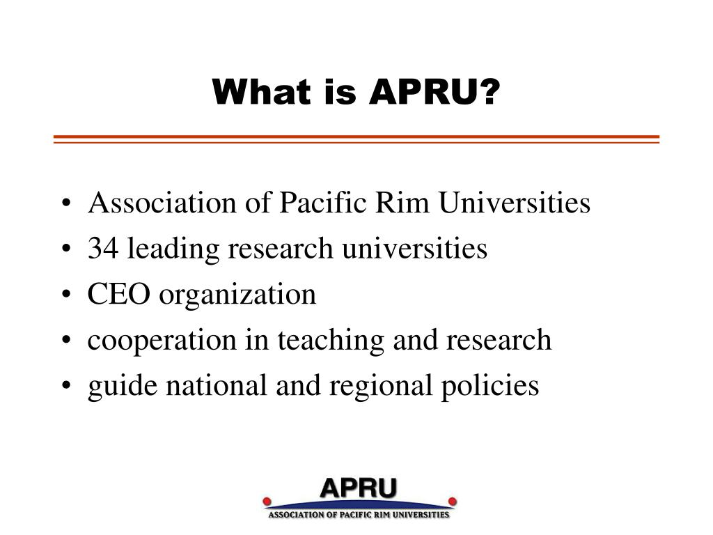 What is APRU?