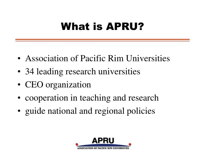What is apru