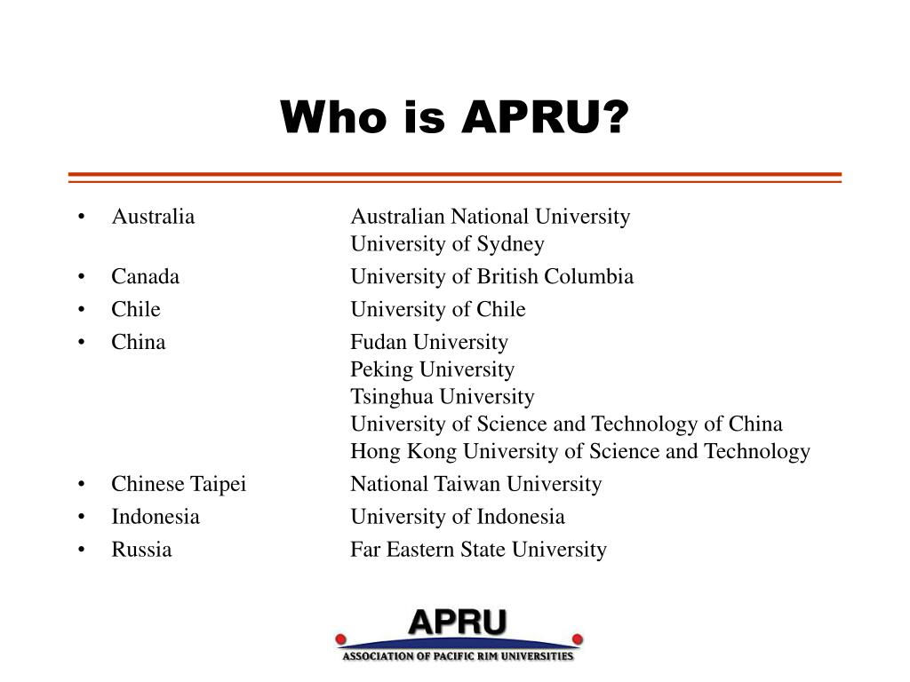 Who is APRU?