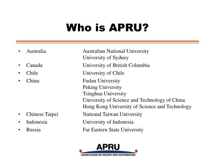 Who is apru