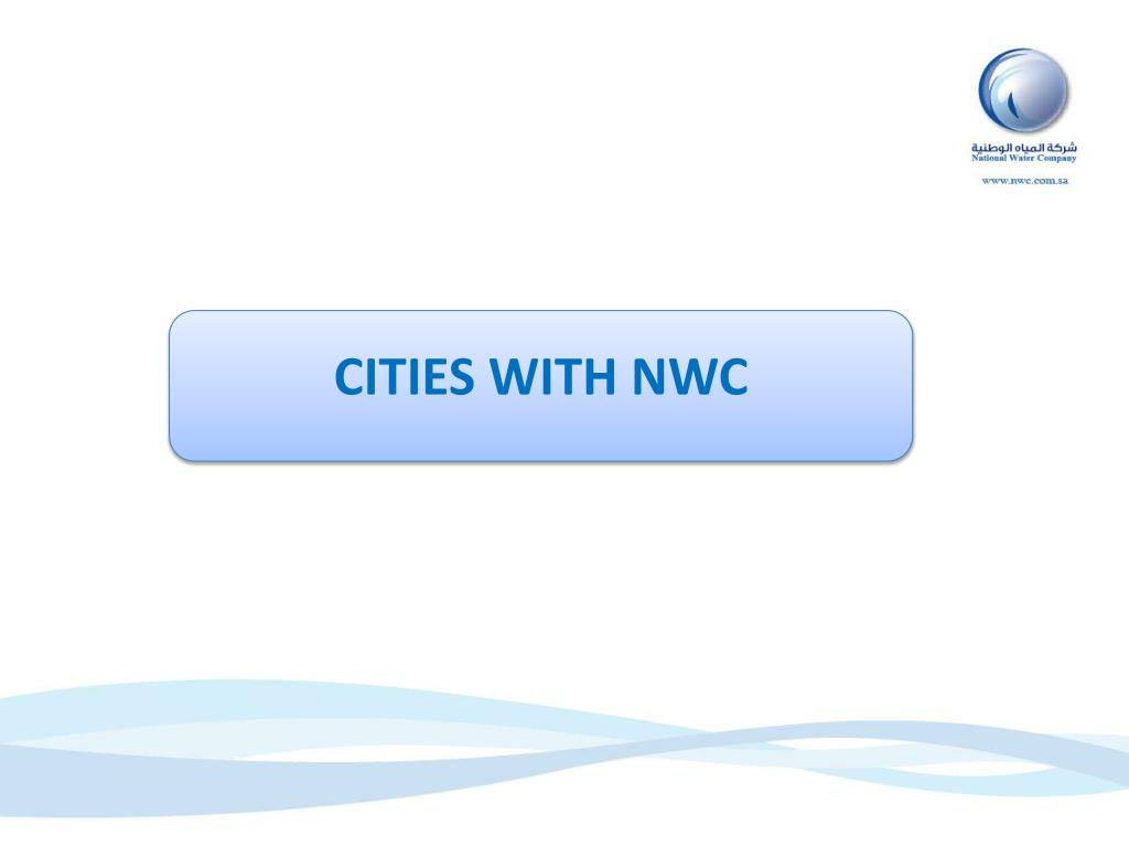 CITIES WITH NWC